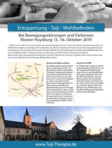 Keep Moving | Taiji-Therapie bei Bewegungsstörungen und Parkinson | Taiji-Training im Kloster Huysburg · Oktober 2019