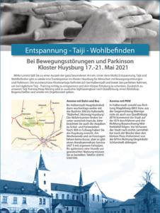 Keep Moving | Taiji-Therapie bei Bewegungsstörungen und Parkinson | Taiji-Training im Kloster Huysburg · Mai 2021